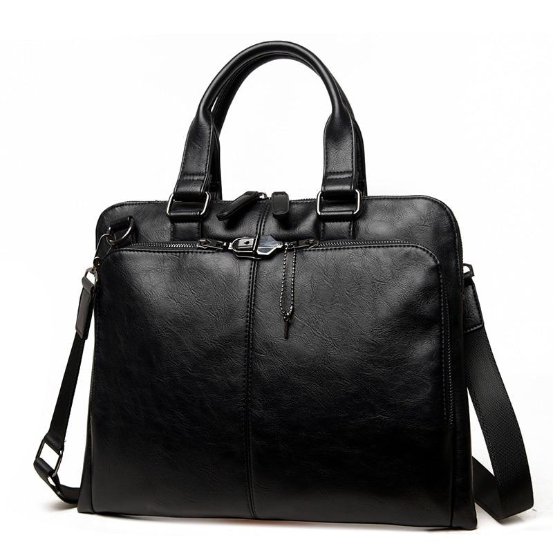 la meilleure attitude 50526 418fe US $27.94 50% OFF|Men's business handbag luxury brand men bag laptop  briefcase mens leather bags for work sacoche homme marque luxe-in  Top-Handle Bags ...