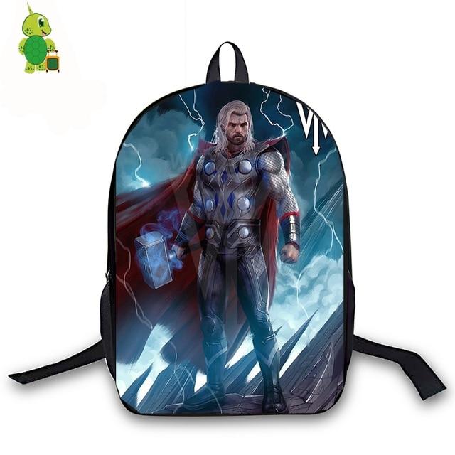 Thor Superhero Backpack for Teenage Girls Boys Book Bag Avengers Women Men  Laptop Travel Backpack Children 428d16e540fbd