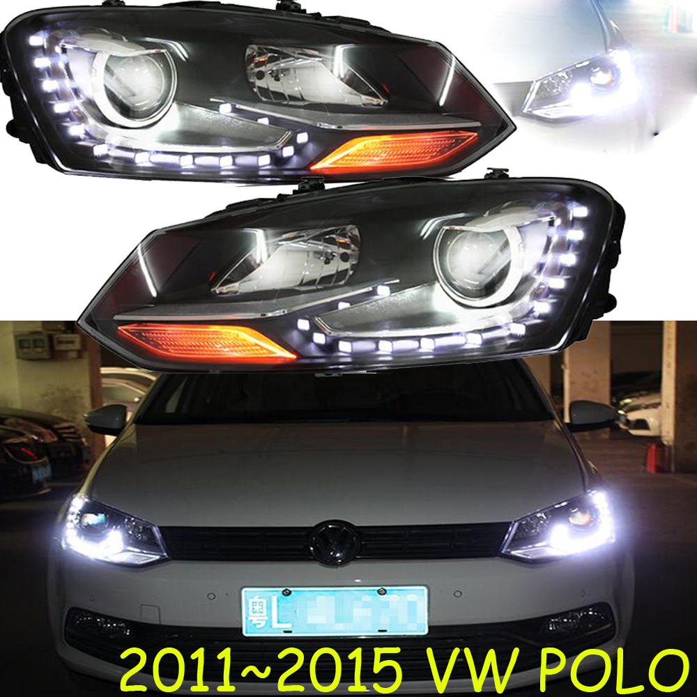 HID,2011~2015,Car Styling for POLO Headlight,sharan,Golf6,routan,saveiro,polo,passat,magotan,POLO head lamp tiguan taillight 2017 2018year led free ship ouareg sharan golf7 routan saveiro polo passat magotan jetta vento tiguan rear lamp