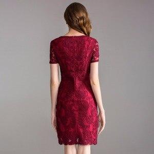 Image 3 - Werk Office zomer lente jurk 2018 nieuwe Kleding vrouwen elegante dames Feestjurk plus size 3xl O hals Pakket heupen Potlood jurk