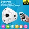 ZGWANG 960P HD 360 Degree VR Panorama Monitor Baby WiFi Wireless Camera Night Vision CCTV Camera