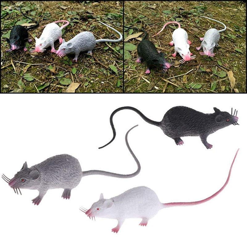 Hot Sale PVC Plastic Christmas Joke High Quality Fake Lifelike Mouse Model Prop Halloween Gift Toy Party Decor Jokes Toy