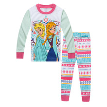 Купить с кэшбэком Children's clothing girls baby cartoon girl princess style home service fashion pajamas set