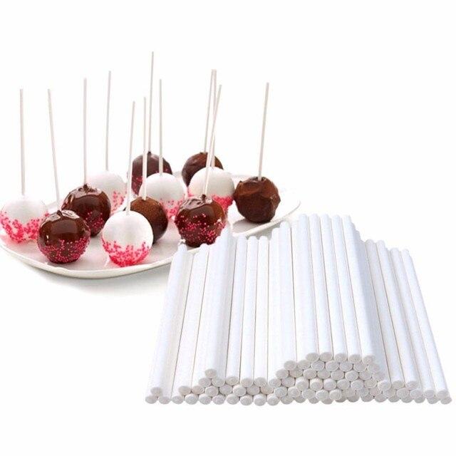 10 pcs 8/10/15 cm Lollipop Dính Giấy Bánh Pops Trắng Rắn Giấy Dính Baking TỰ LÀM đường Thủ Công Fondant Khuôn Kẹo Khuôn