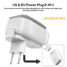 4-Port 4.4A(Max) 22W USB Charger Adapter With LED Lamp