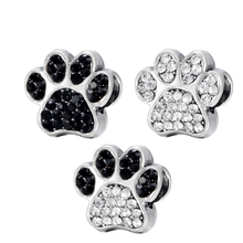 New Pets Animal Dog Paw Prints Bear Charms Beads European DIY Fit Pandora Bracelets & Bangle Fashion Jewelry
