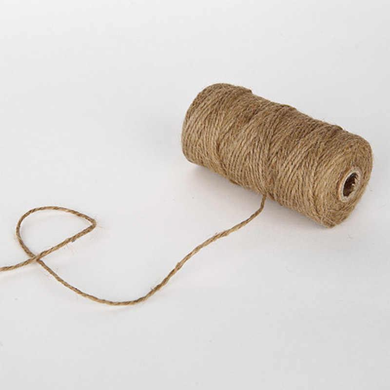 100 متر اصنعها بنفسك أدوات قصاصات الورق الطبيعية الجوت الحرفية ديكور حبل القنب الخيش سلسلة خيوط خيوط منسوجة التفاف الحبال الموضوع