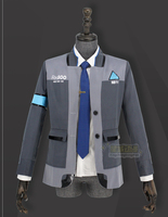 Detroit: Become Human CyberLife RK800 Detroit City Police Department Agent Connor Outfit Cosplay Costume