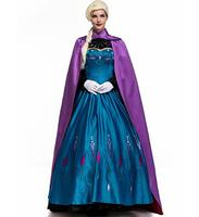 Adult Princess Anna Fancy Dress Up Snow Queen Womens Cape Costume