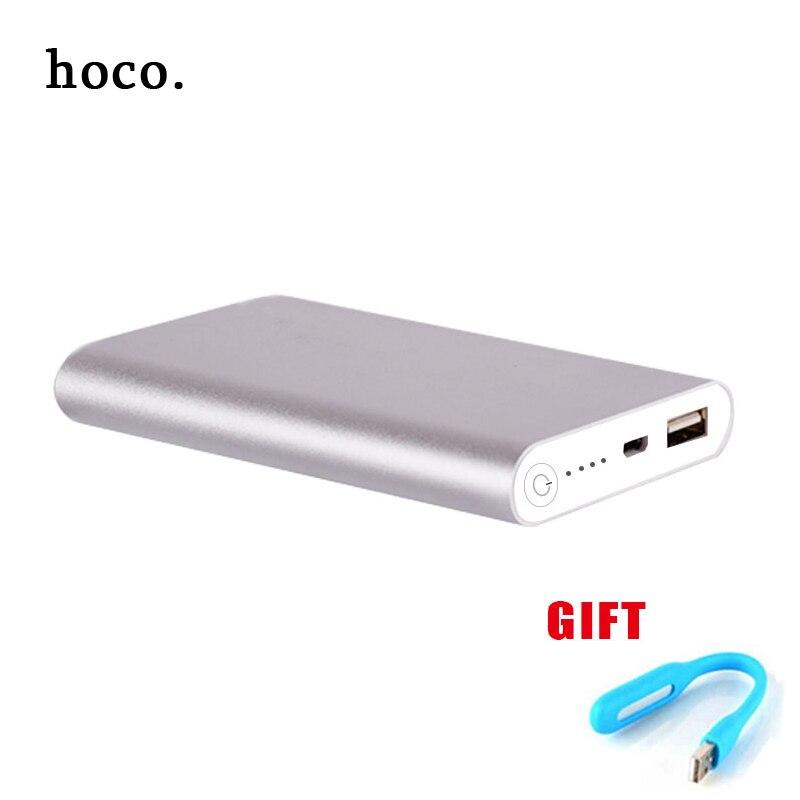 imágenes para Hoco Metal Cargador de Batería Portable 11800 mAh Banco de Alimentación Externa Powerbank para Todos Los Teléfonos + led light Envío Rápido