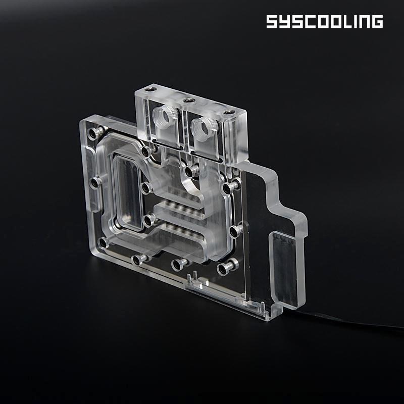 Syscooling маляўнічае GTX960-4G-D5 астуджэння поўнага ахопу вотерблок кампутар вады меднага GPU дно