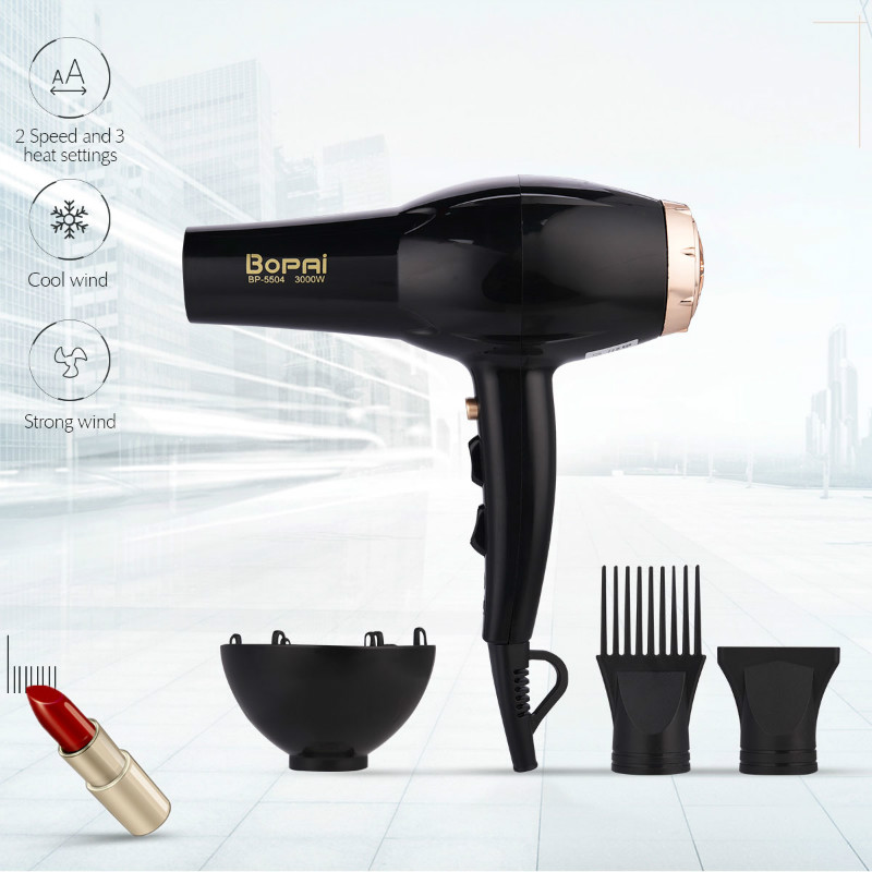 Professional Strong Power 3000W Hair Dryer For Hairdressing Barber Salon Tool Blow Dryer Low Noise Hairdryer Hot Cold Air Adjust kezzi brand women dress watches 3atm waterproof leather strap fashion quartz watch student wristwatches ladies hours 2016 new