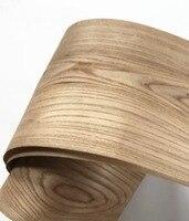 2PCS LOT L 2 5Meters Wide 18CM Thickness 0 3mm Elm Wood Veneer Decoration Furniture Veneer