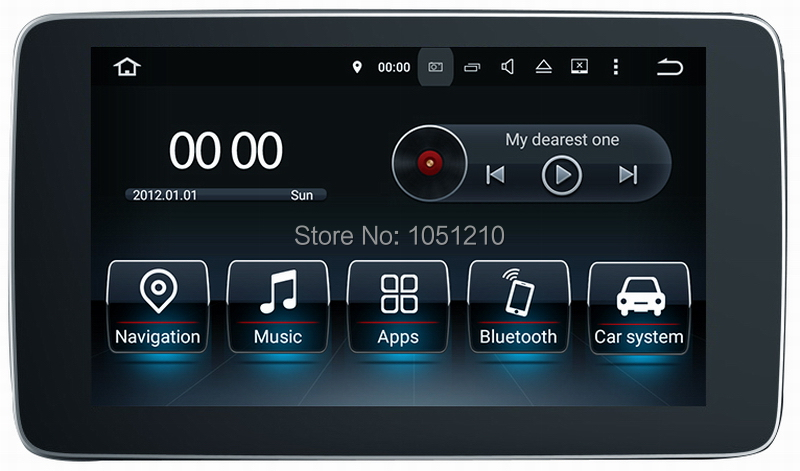 Ouchuangbo <font><b>android</b></font> 7.1 car radio audio recorder for <font><b>Benz</b></font> E <font><b>W212</b></font> (2015-2017) with 9 inch GPS mirror link 1080P video image