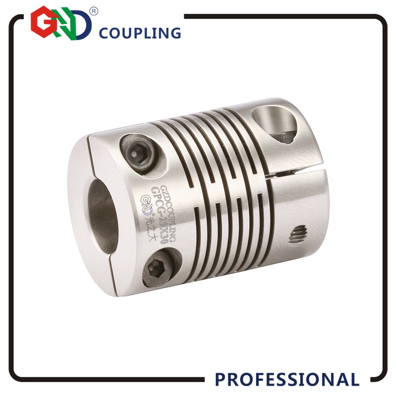 GND shaft coupling stainless steel electric motor stepmotor beam flexible coupler of clamp series servo motor CNC quick-coupler 3mm shaft screw clamp motor wheel brass coupler coupling