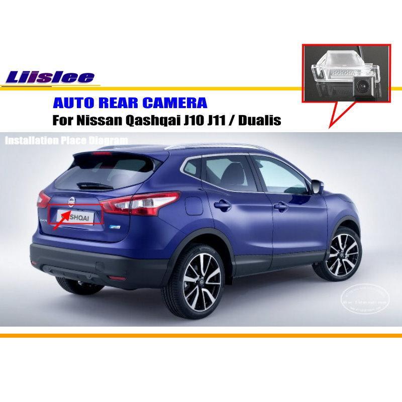 Liislee Car Camera For Nissan Qashqai J10 J11 / Dualis / Rear View Camera / HD CCD RCA NTST PAL / License Plate Light Camera