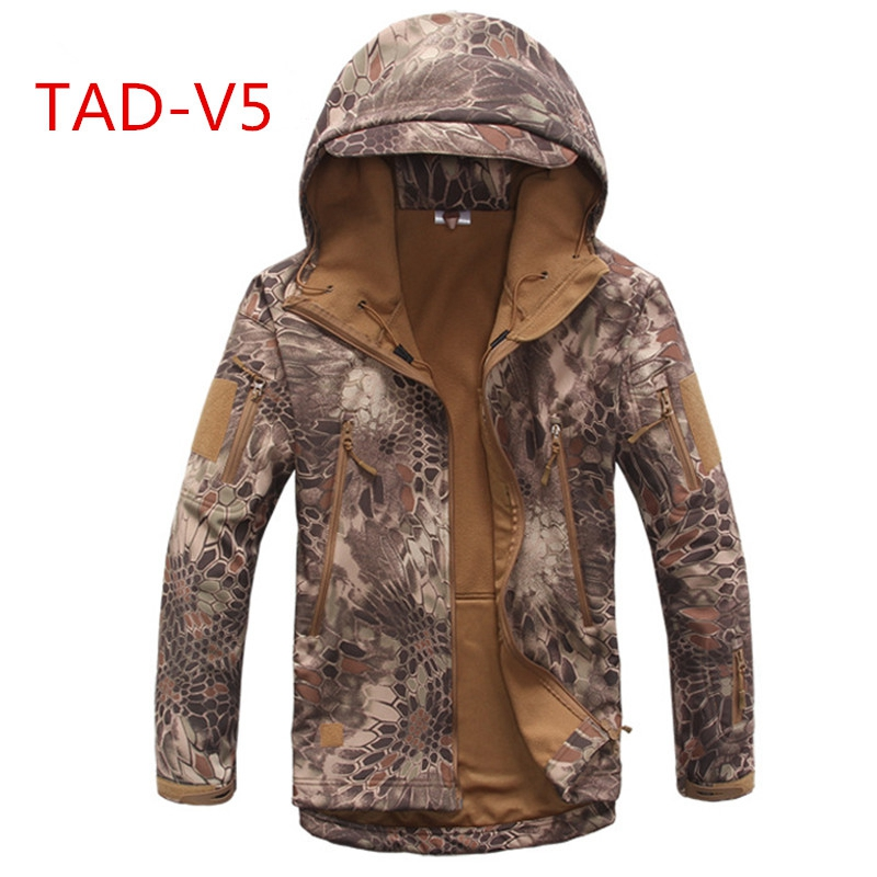 Tactical TAD jacket softshell Waterproof Windproof Jackets Army Camouflage Outdoor Sport Hiking Outerwear Clothing 2016 high quality alpha n 3b mens shark softshell jacket tad outdoor male warm waterproof man fleece jackets outerwear