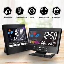 KALAIDUN термометр гигрометр электронный цифровой ЖК-дисплей измеритель температуры и влажности Крытый Открытый Метеостанция Будильник