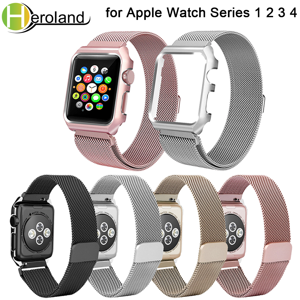Milanese Loop Bracelet Stainless Steel band For Apple Watch series1/2/3/ 42mm 38mm replacement strap watchbands +case cover newMilanese Loop Bracelet Stainless Steel band For Apple Watch series1/2/3/ 42mm 38mm replacement strap watchbands +case cover new