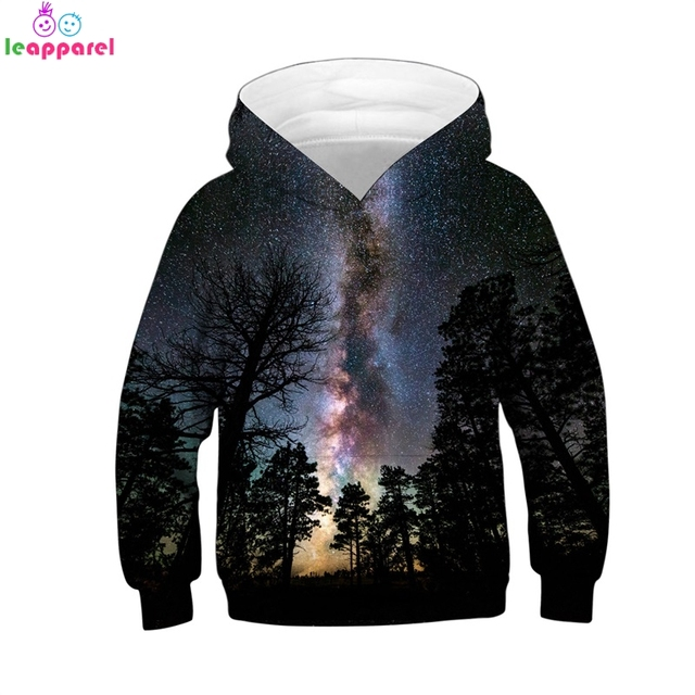 8fcfbb98c New Arrival Girls Boys Hoodies Sweatshirts 2019 Forest Space Galaxy ...