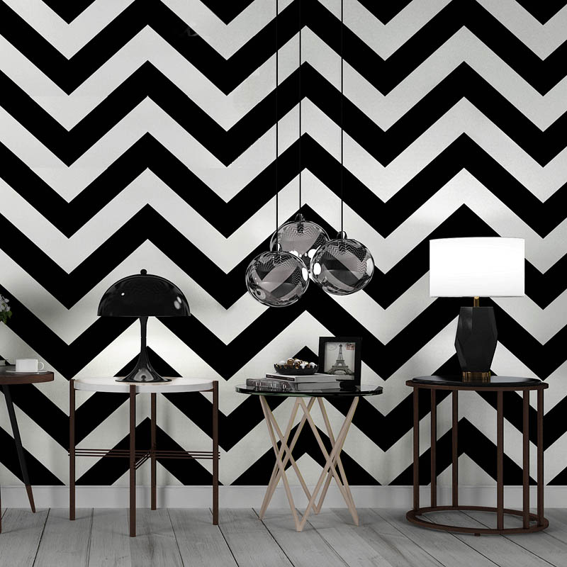 Nordic Black And White Striped Wallpaper Modern Geometric Lines Bar Clothing Store Bedroom Living Room Industrial Wind Wallpaper Wallpapers Aliexpress