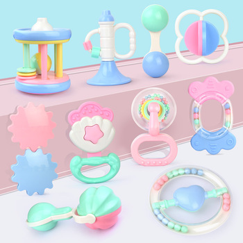 UainCube 10 In 1 Baby Toy Hand Hold Jingle Shaking Bell Lovely Hand Shake Bell Ring Baby Rattles Toys Newborn Baby Teether Toys недорого