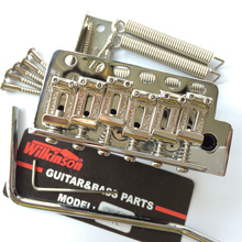 цена на Wilkinson ST electric guitar Tremolo System Bridge + Bent Steel Saddles  WV6 Chrome Silver Gold