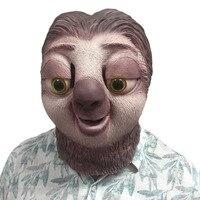 Sloth latex maske Zootopia Sloth Maske Nick Wilde Latex Vollen Kopf Tier Maske Halloween Party Cosplay Prop Zubehör Spielzeug