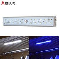 ARILUX Night Lights 20 White LED 8 UV LED USB Rechargeable Light Sensor PIR Motion Cabinet