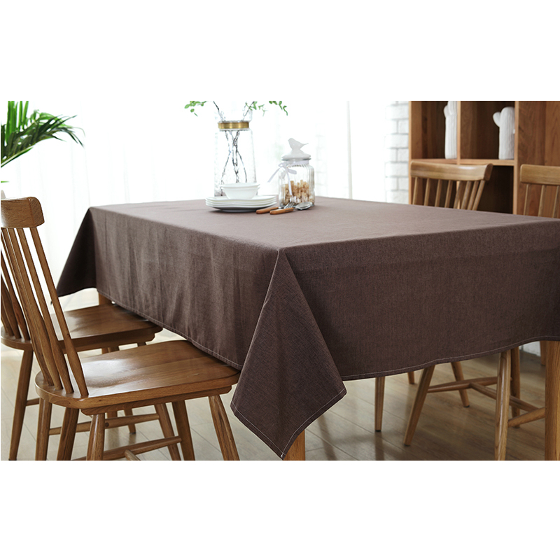 cotton linen table cloth coffee tea table cloth waterproof colors korea japan europe american modern style