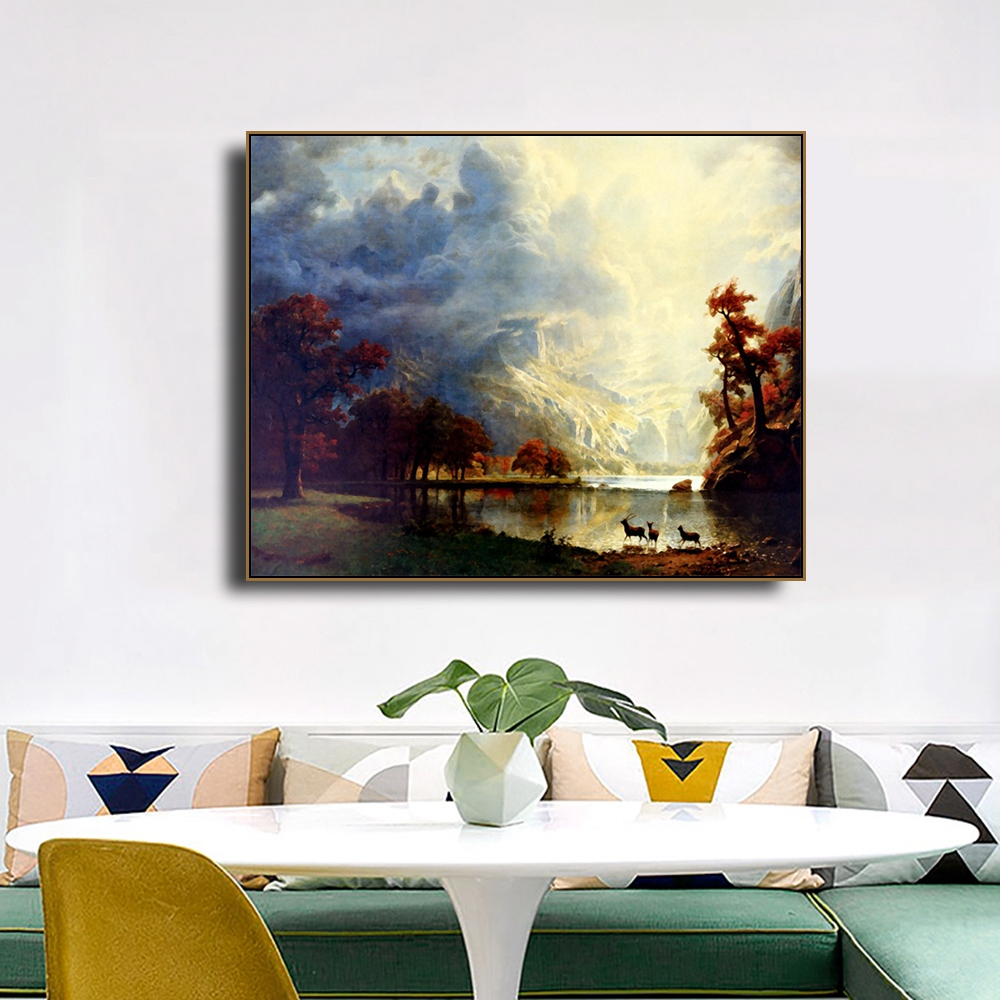 Unique View Scenery Wall Pictures Art Poster Print Canvas Painting Calligraphy Decorative Picture for Living Room Home Decor in Painting Calligraphy from Home Garden