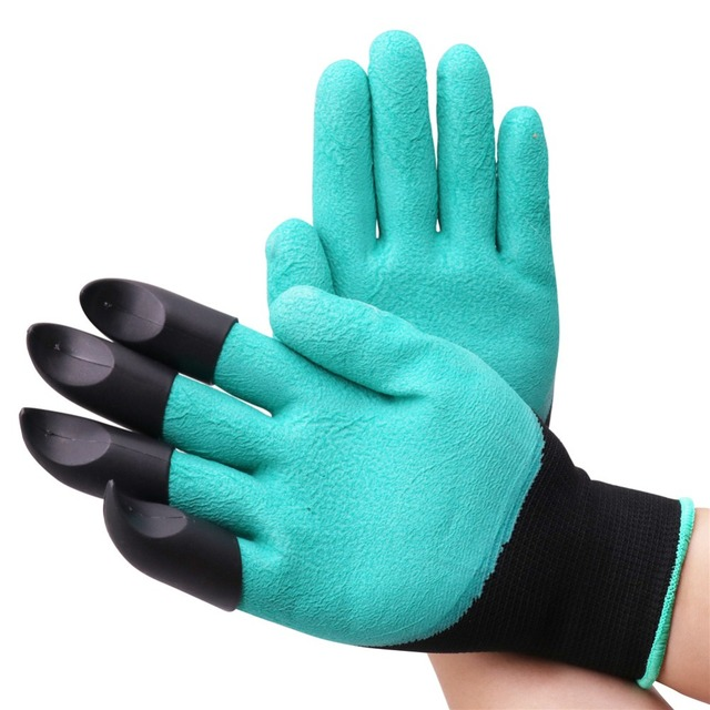 1 pairs Bee Tool Beekeeper Gloves Beekeeping Tools Protective Clothing Accessories Right Hand With Plastic Shovel Not Hurt Hand 4