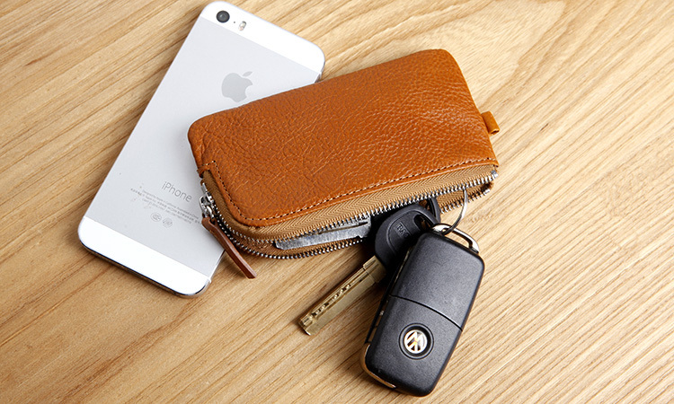 LAN mens genuine leather key wallet famous brand key case handmade key holder