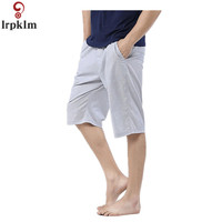 2018 Summer New Casual Men's Sleeping Pants Men's Cotton Pajamas Shorts Casual Pure Color Comfortable Waistband Chic JW095