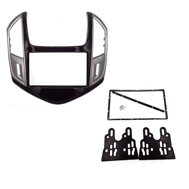 Haute qualité 2 DIN Double Din autoradio Fascia pour CHEVROLET Cruze 2013 stéréo facia cadre panneau tableau de bord kit de montage