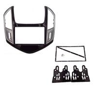 High quality 2 DIN Double Din Car Radio Fascia for CHEVROLET Cruze 2013 stereo facia frame panel dash mount kit