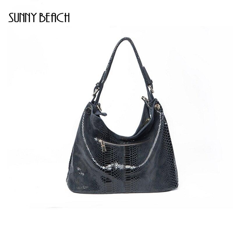 ФОТО Mature fashion handbags women shoulder bag  genuine leather bag snake print leather bags