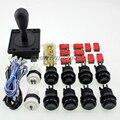 Zero Delay USB Encoder to PC Games Happ Style Joystick + 8x Push Buttons + Two Player Button For Arcade Joystick DIY Kits Parts
