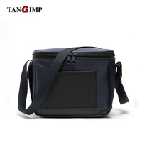 TANGIMP 10L Thermal Lunch Bags Leather Nylon Portable Cooler Lunchbox Men Kids Food Bags Insulation Package