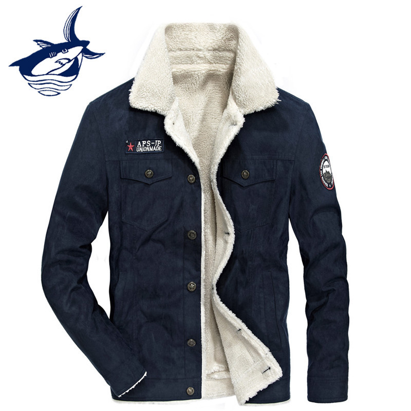 2017 New Arrival Fleece Jacket Men Brand Tace & Shark Winter Autumn Casual Woolen Liner  ...