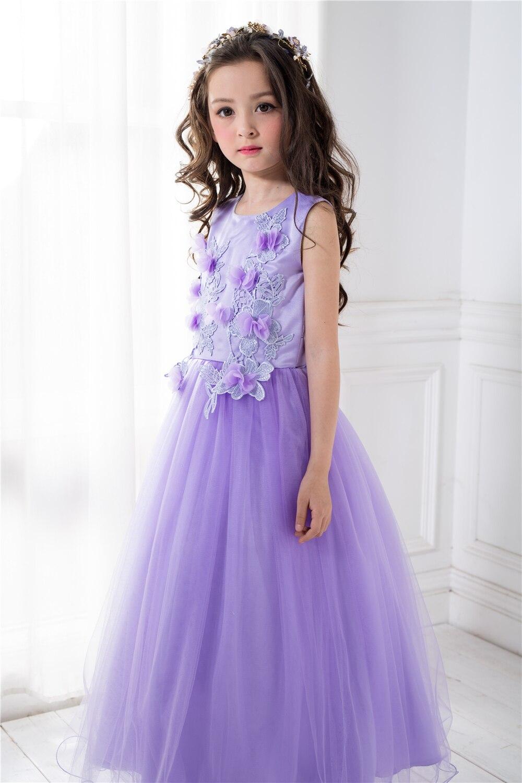High end Girls Wedding Party Flower Girl Dress Bridesmaid Clothes ...