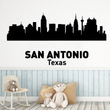 Diy SAN ANTONIO TEXAS Wall Mural Removable Decal For Childrens Room Creative Stickers