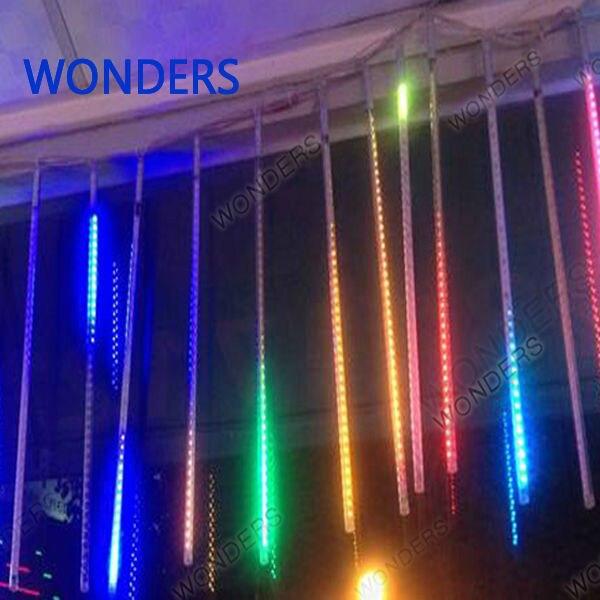Новый 56 см метеорный поток Дождь Трубы Рождество декоративные строка светодиодные лампы 100-240 В ЕС США Plug праздник света Бесплатная доставка