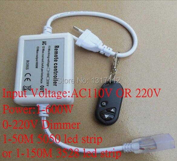 led strip dimmer 220V strip light RF remote control Single Color LED Strip Dimmer infrared remote control w led dimmer for led light stripe white