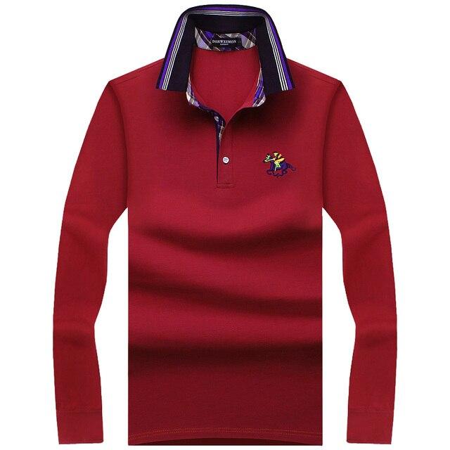 2e9e9aae4f 2018 nuevas camisetas de Polo de moda para hombre de manga larga de primavera  ajustada para