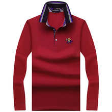 2019 New Fashion Mens Polo Shirts Long Sleeve Spring slim Fit Men's Shirt Brands Camisa Polo Masculina Plus Size 7XL 8XL 9XL