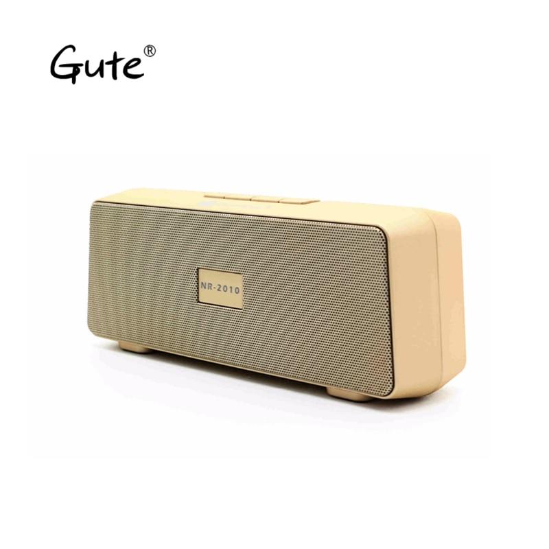 Gute 2019 Hot Square Wireless Bluetooth Speaker FM Radio Portable Dual Speakers Enceinte