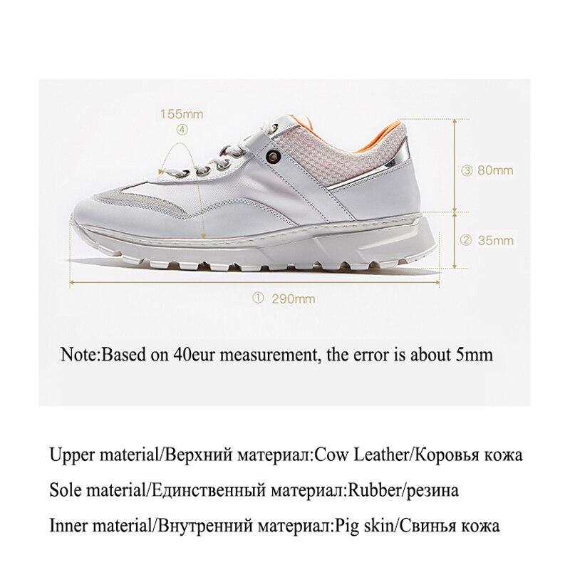 Delivr Wit Sneakers Mannen Unisex Dikke Zool Ademend Gevulkaniseerd Schoenen Masculino Adulto Papa Schoenen Hoge Platform Sneakers Mannen - 6