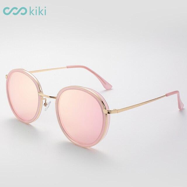 c7b830a562 KIKI 2017 Women Polarized Sunglasses Round Brand Designer Sun Glasses Metal  Girl Steampunk lentes de sol