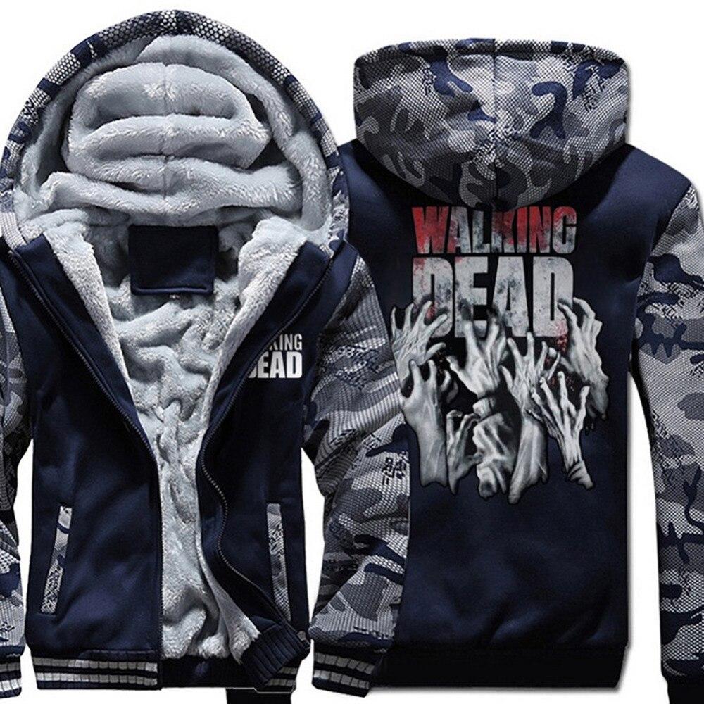 The Walking Dead Sweatshirts Hoodies 2018 Hot Spring Winter Thicken Hoodie Hip Hop Brand Clothing Harajuku Sweatshirt Tracksuits